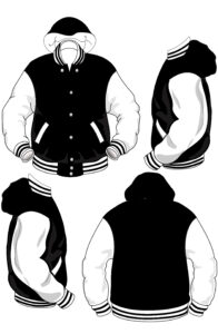 Set In Sleeves with hood and collar