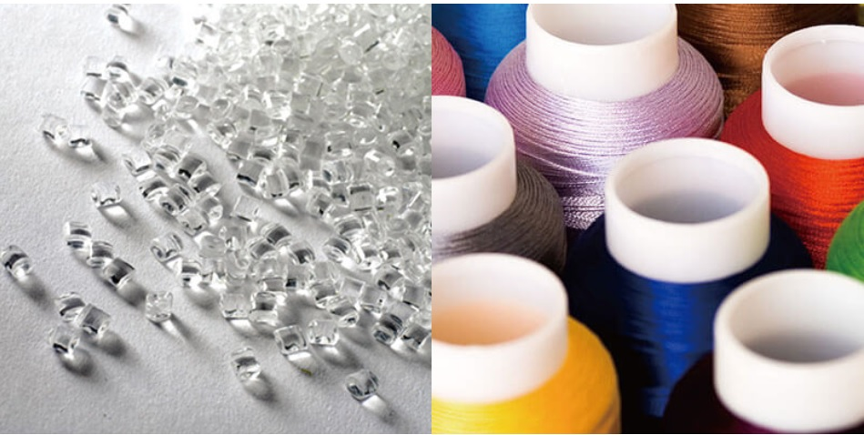 from plastic chips to yarn