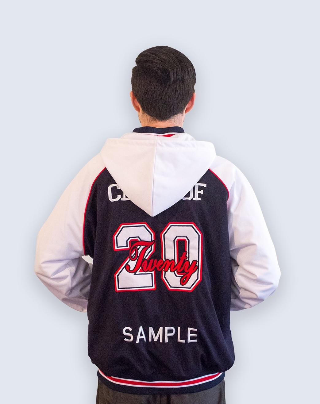 custom hoodie back with hood