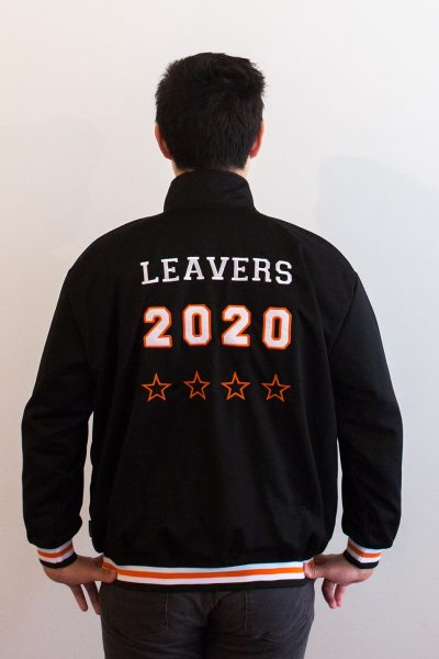 custom made high neck back jacket